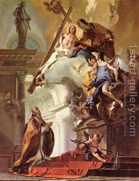 Vision of St. Clemens by Giovanni Battista Tiepolo - Reproduction Oil Painting