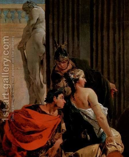 Alexander the Great and Campaspe in the studio of Apelles, detail 2 by Giovanni Battista Tiepolo - Reproduction Oil Painting