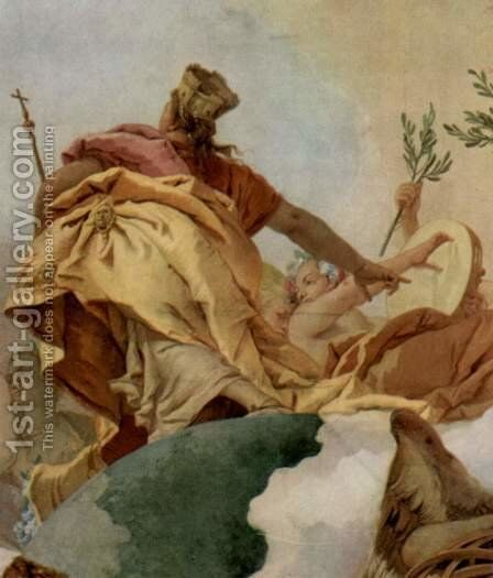 Apotheosis of the Family Pisani, detail 2 by Giovanni Battista Tiepolo - Reproduction Oil Painting