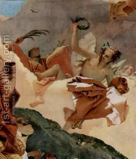 Apotheosis of the Family Pisani, detail 3 by Giovanni Battista Tiepolo - Reproduction Oil Painting
