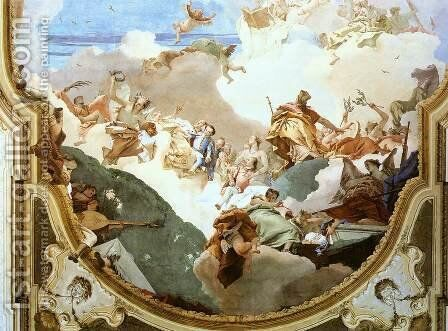 The Apotheosis of the Pisani Family [detail 2] by Giovanni Battista Tiepolo - Reproduction Oil Painting