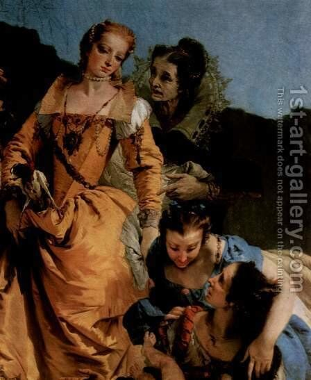 The suspension of the small Moses in a Binsenkorb in water, a fragment, Detail by Giovanni Battista Tiepolo - Reproduction Oil Painting