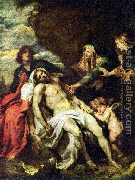 Beweinung of Christ 1 by Sir Anthony Van Dyck - Reproduction Oil Painting