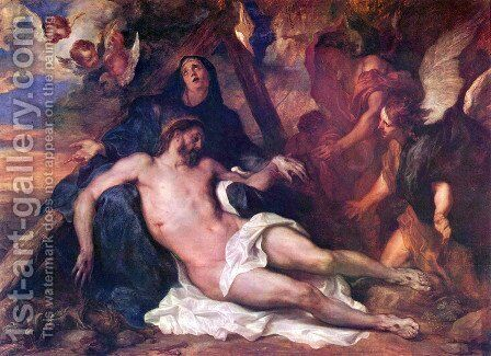 Beweinung of Christ 2 by Sir Anthony Van Dyck - Reproduction Oil Painting