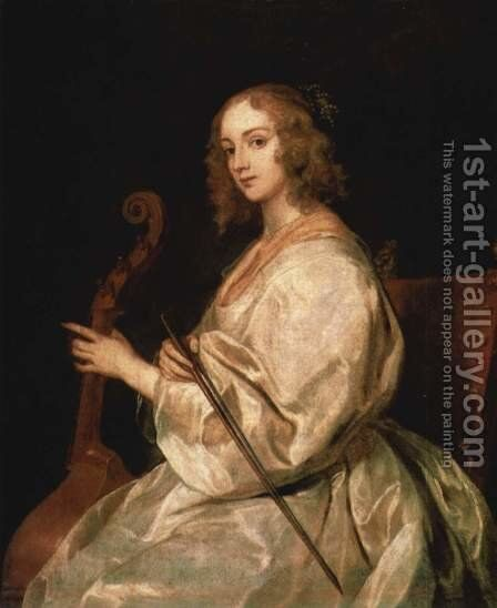Portrait of Mary Ruthven, wife of the artist by Sir Anthony Van Dyck - Reproduction Oil Painting