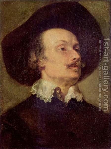 Portrait of the battle painter Pieter Snayers by Sir Anthony Van Dyck - Reproduction Oil Painting