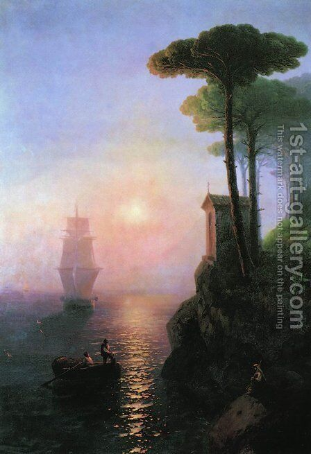 Misty morning in Italy by Ivan Konstantinovich Aivazovsky - Reproduction Oil Painting