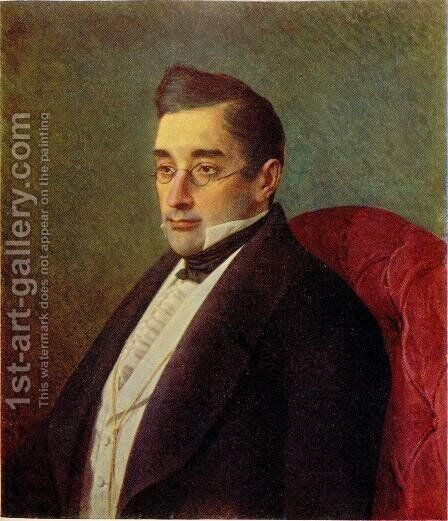 Portrait of Alexandr Griboyedov by Ivan Nikolaevich Kramskoy - Reproduction Oil Painting