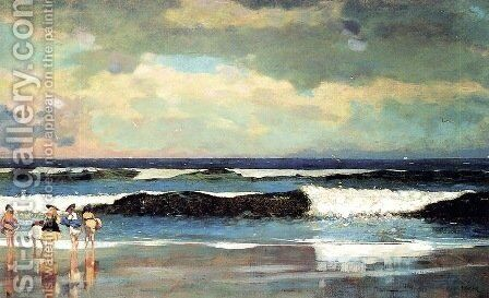 On the Beach, Long Branch, New Jersey by Winslow Homer - Reproduction Oil Painting