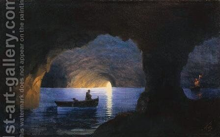 Azure grotto. Naples by Ivan Konstantinovich Aivazovsky - Reproduction Oil Painting