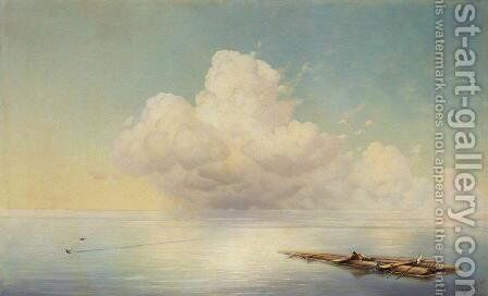 Clouds on the quiet sea by Ivan Konstantinovich Aivazovsky - Reproduction Oil Painting