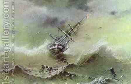 Storm 3 by Ivan Konstantinovich Aivazovsky - Reproduction Oil Painting