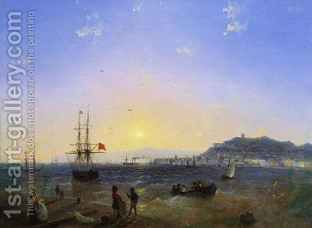 View of Kerch (1839) by Ivan Konstantinovich Aivazovsky - Reproduction Oil Painting