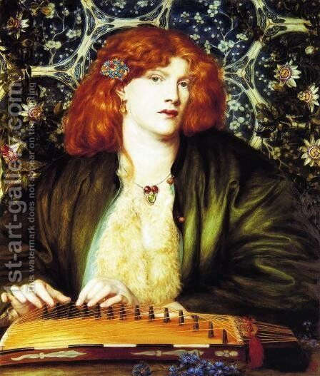 The Blue Bower by Dante Gabriel Rossetti - Reproduction Oil Painting
