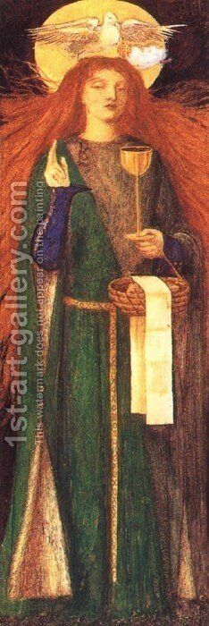 The Damsel of the Sanct Grael by Dante Gabriel Rossetti - Reproduction Oil Painting