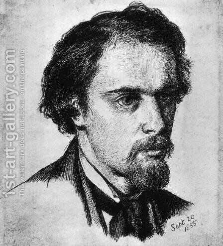 Self-Portrait 4 by Dante Gabriel Rossetti - Reproduction Oil Painting