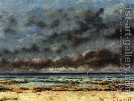 Calm Seas by Gustave Courbet - Reproduction Oil Painting