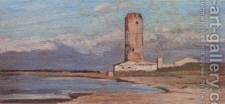 The red tower (also known as La Marzocco tower) by Giovanni Fattori - Reproduction Oil Painting