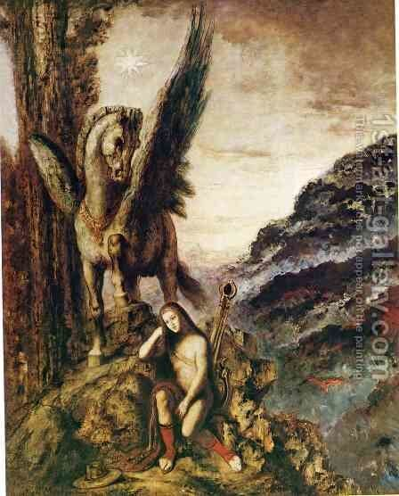 The Poet as a Wayfarer by Gustave Moreau - Reproduction Oil Painting