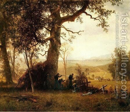 Guerilla Warfare (also known as Picket Duty in Virginia) by Albert Bierstadt - Reproduction Oil Painting
