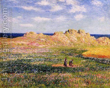 Ile d'Ouessant, Finistere 2 by Henri Moret - Reproduction Oil Painting