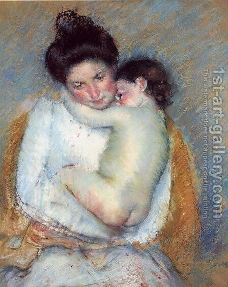 Mother and Child 4 by Mary Cassatt - Reproduction Oil Painting