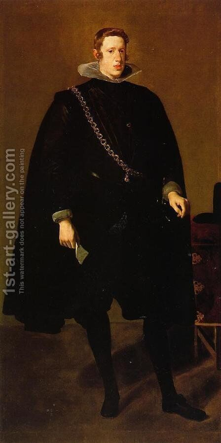 Philip IV, Standing 1 by Velazquez - Reproduction Oil Painting