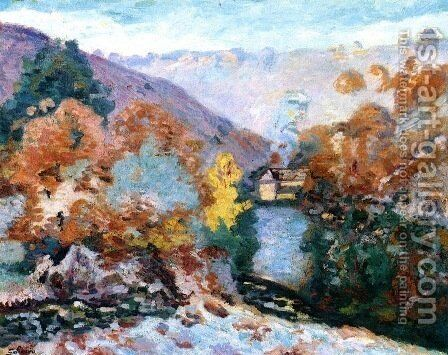 Crozant Landscape, La Folie by Armand Guillaumin - Reproduction Oil Painting
