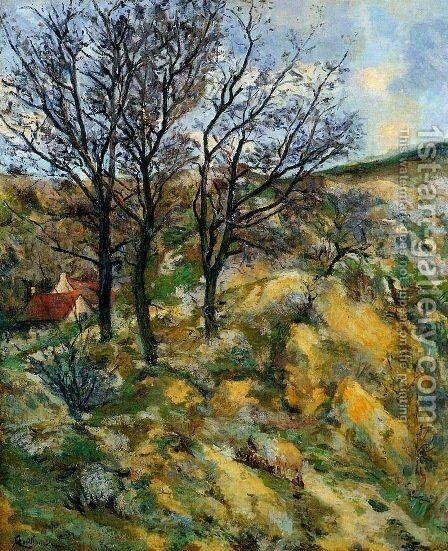Landscape with Red Roofs by Armand Guillaumin - Reproduction Oil Painting