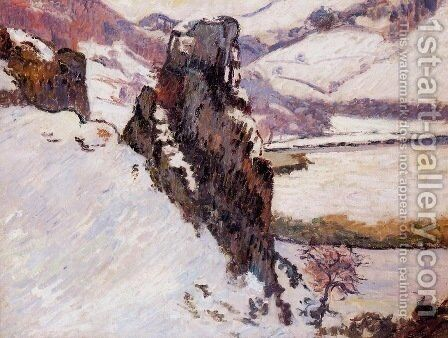 Landscape, The Creuse in the Snow by Armand Guillaumin - Reproduction Oil Painting
