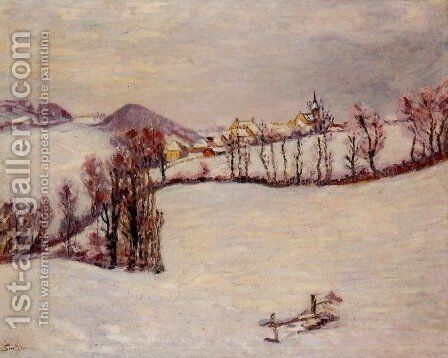 Sanit-Sauves in the Snow by Armand Guillaumin - Reproduction Oil Painting