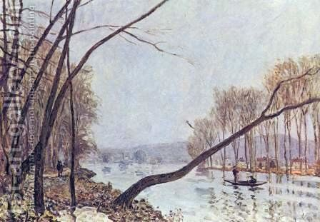 Bank of the Seine in the autumn by Alfred Sisley - Reproduction Oil Painting
