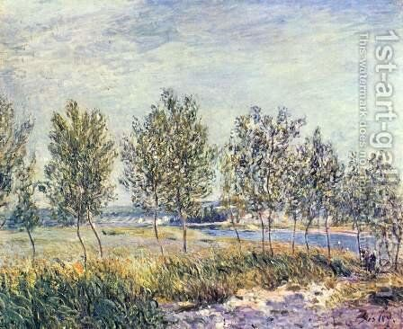 Meadow in By by Alfred Sisley - Reproduction Oil Painting