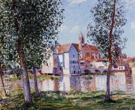 Moret-sur-Loing 3 by Alfred Sisley - Reproduction Oil Painting