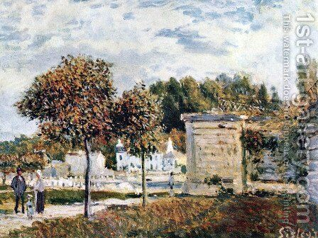 Oversupply of Marly by Alfred Sisley - Reproduction Oil Painting