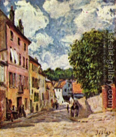Road in Moret-Sur-Loing by Alfred Sisley - Reproduction Oil Painting