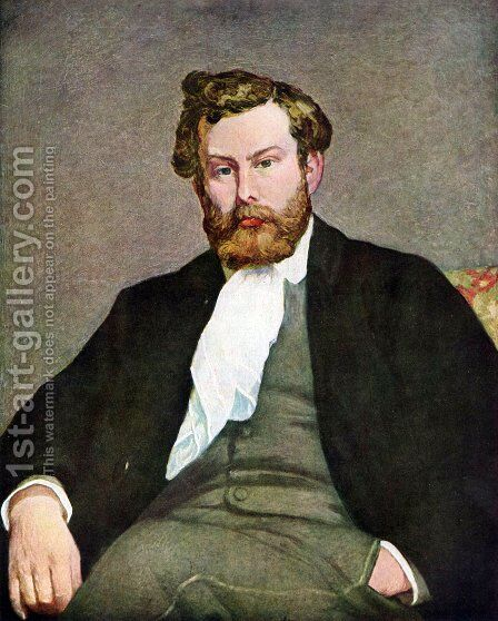 Self-Portrait by Alfred Sisley - Reproduction Oil Painting
