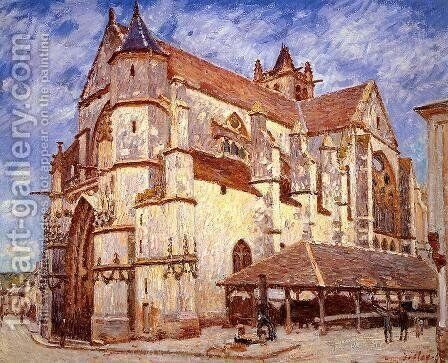 The Church at Moret, Afternoon by Alfred Sisley - Reproduction Oil Painting