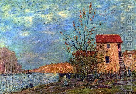 The Loing bei Moret by Alfred Sisley - Reproduction Oil Painting