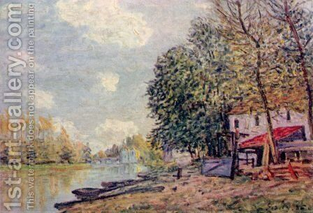 The Loing in Moret by Alfred Sisley - Reproduction Oil Painting