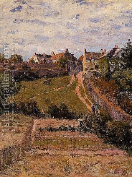 The Rising Path 2 by Alfred Sisley - Reproduction Oil Painting