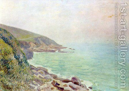 Welshman coast in the fog by Alfred Sisley - Reproduction Oil Painting