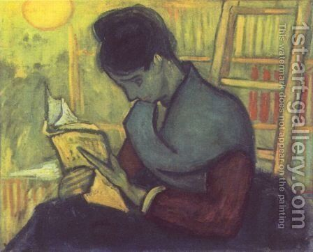 A woman reading by Vincent Van Gogh - Reproduction Oil Painting