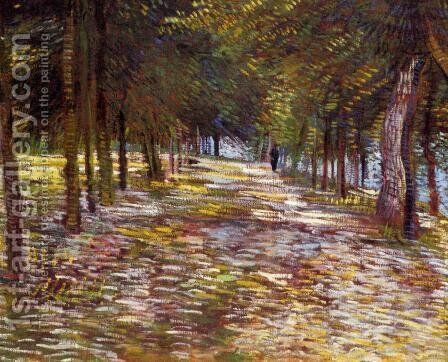 Avenue in the Voyer-d'Argenson Park at Asnieres by Vincent Van Gogh - Reproduction Oil Painting