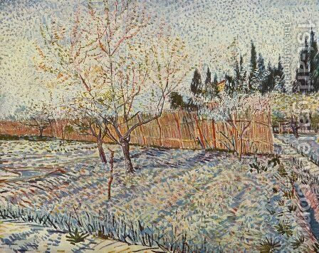 field on winter by Vincent Van Gogh - Reproduction Oil Painting