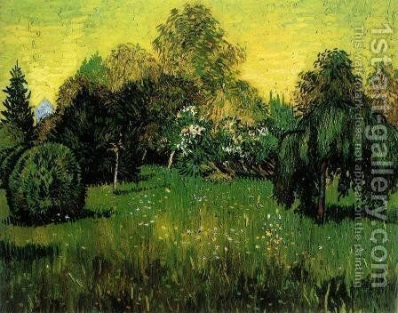 Public Park with Weeping Willow by Vincent Van Gogh - Reproduction Oil Painting