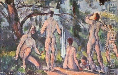 Bathers 12 by Paul Cezanne - Reproduction Oil Painting