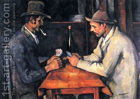 Cardplayers 4 by Paul Cezanne - Reproduction Oil Painting