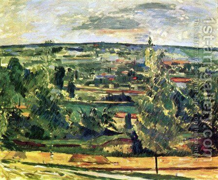 Landscape at the Jas de Bouffan by Paul Cezanne - Reproduction Oil Painting