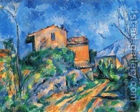 Maison Maria at the way to the Château Noir by Paul Cezanne - Reproduction Oil Painting